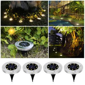 10LED Solarlampe Bodenstrahler Gartenlicht Leuchte Bodeneinbau Außen-Beleuchtung