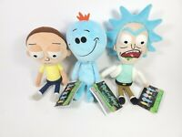 Funko Galactic Plushies Rick and Morty Happy Mr. Meeseeks Set of 3 NWT 9""
