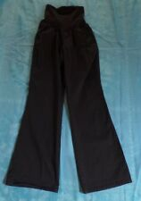 OH BABY  by MOTHERHOOD Black Cotton Maternity Pants Size Medium Secret Fit Belly
