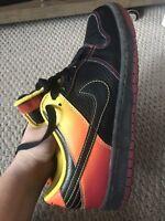 2009 Nike NYX Dunk Low Supreme SB SZ 10 Black Orange Blaze Fire Red 330938-004
