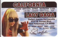Lady GAGA California Identification Born This Way star ID card Drivers License