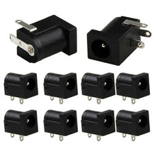 10Pcs 5.5 x 2.1mm DC Power Supply Socket Female Jack Plug Port Connector Black