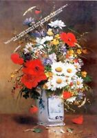 Basket Of Flowers by Hans Looschen Artwork by Selby Prints