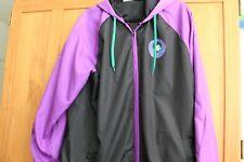 Worlds Finest DC COMICS Joker Jacket w/hood black/purple/green Joker on Back