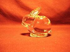 Crystal Rabbit Figurine Paperweight / Candleholder