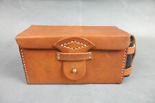 NICE WWII IMPERIAL JAPANESE ARMY AMMO POUCH LEATHER WITHOUT OIL BOX-B10890