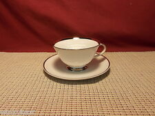 Harmony House China Silver Rhapsody Cup & Saucer Set