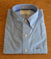 NEW Abercrombie & Fitch Hurricane Mountain Light Blue Check Shirt XL RRP £82