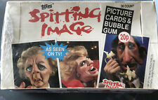 More details for topps spitting image 1990  card gum 36 pack box factory sealed mike tyson?
