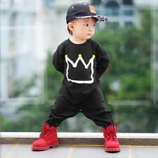 2pcs Toddler Kids Baby Boy T-shirt Tops+Long Pants Trousers Outfits Clothing 6M