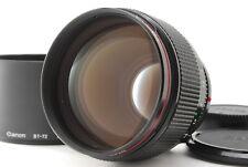 【Mint】Canon FD 85mm f/1.2 L MF Lens w/ Hood  from Japan-#1418