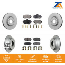 Front Rear Coated Disc Rotors & Ceramic Brake Pads Fits 2016 Kia Sportage