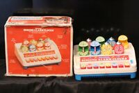 Vintage SHELCORE Singing Alarm Clock Preschool Toy 1984 New in box. Tested. READ
