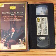 New Years Concert 1991 (VHS) Vienna Philharmonic Claudio Abbado