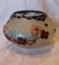 Antique Legras Cameo Vase Enameled Deco Design