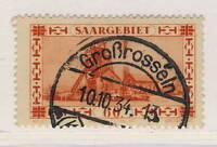 "SARRE / SAAR / SAARGEBIET - 1934 Yv.140/Mi.143 "" Großrosseln / Kr. Saarbrücken """