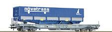 Roco76747 Vagone Känguru SNCF Novatrans Ep4-5 Scambio Degli Assi A Richiesta