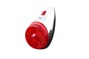 LED Fahrrad Dynamo / Batterie Rücklicht Spanninga NR 9 Schutzblechmontage chrom