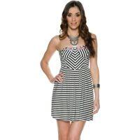 Billabong Womens Spread the News Stripe Bustier Strapless Mini Dress Size L GA