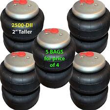 """set of 5 air bag 2"""" TALLER 2500 D-II  3/8"""" Fittings ride springs bags"""