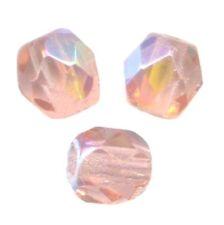 50 Perles Facettes cristal de boheme 4mm - LIGHT ROSE AB