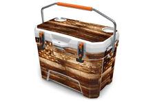 """Ozark Wrap """"Fits Old Mold"""" 26qt Cooler 24mil Skin Full Kit USA Flag Wood"""