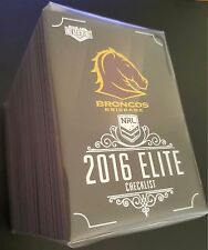 2016 ESP NRL Elite Complete Full 192 Card Base Common Set