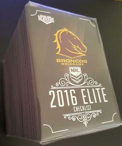 2016 ESP NRL Elite Complete Full 192 Card Base Common Set
