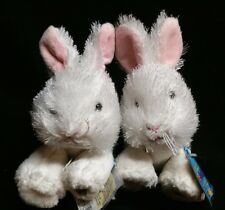 Lot of 2 GANZ WEBKINZ LIL' KINZ WHITE BUNNY RABBIT CUTE! Just in time for Easter