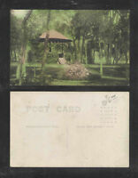 1910s PARK ? WATER WELL ? COLORIZED RPPC REAL PICTURE POSTCARD
