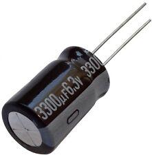 5x Condensateur chimique LOW ESR 3300µF  6.3V THT 105°C 7000h Ø12.5x20mm radial