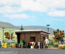 Busch 1458 fermata autobus, H0 Mondi in miniatura legno vero KIT 1:87