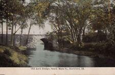 Postcard Old Arch Bridge South Main St Rockford IL
