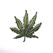 Cannabis Marijuana Ganja Weed Pot Plant Leaf Reggae Marley Clothing Iron patch