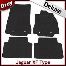 JAGUAR XF mk1 2008-2015 Completamente Su Misura 1300g di lusso montato Auto Tappeto PEDANE GRIGIO