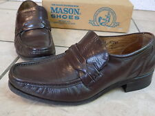 vintage Men's Mason Executive Imperial Loafer size 8.5 D, Leather Brown Slip-on