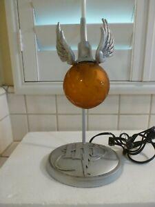 Harry Potter Quidditch Hallmark Golden Snitch Lamp Tested Works vintage rare
