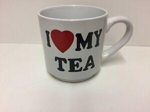 Large size Mug I Love My Tea 18 fl oz. (NOT QUITE A PINT).( Seconds Quality.)