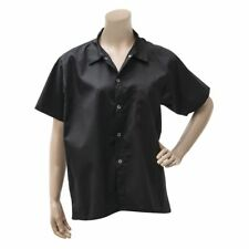 Chef Revival Basic Cook's Shirt Black Poly Cotton - Extra Large (Cs006Bk-Xl)