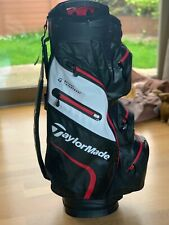 TaylorMade 2020 Deluxe Waterproof Cart Bag. Black/White/Red.