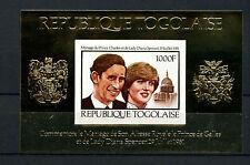 St. Thomas & Prince está. 1981 Princesa Diana Boda Real 1000f IMPERF M/S#D7752