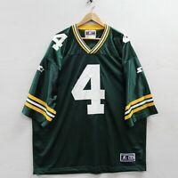 Vintage Brett Favre #4 Green Bay Packers Starter Jersey Size 2XL 54 NFL Football