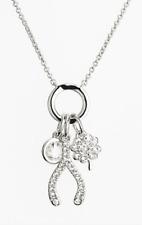Nadri Womens Wishbone & Clover Cluster Pendant Necklace 0256