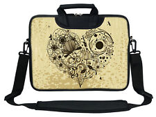"12"" Laptop Computer Sleeve Bag with 2 Top Pockets & Shoulder Strap Handle  3012"