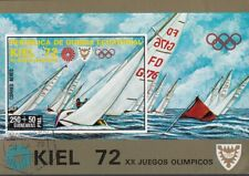 Guinea Equatoriale 1972 Olimpiadi Monaco Kiel Flying Dutchman Sheet Imperf. CTO