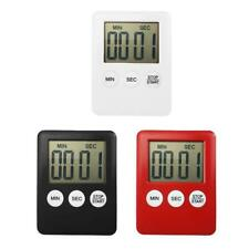 1.8 inch Digital LCD Kitchen Cooking Timer Count Down Clock Magnetic Alarm W4D0