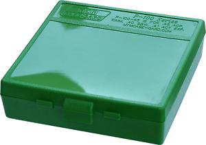MTM 100 Round Pistol Ammo Box .45ACP/.40SW/10mm - Green Poly P-100-45-10