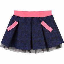 Diseñador billieblush Chicas Jacquard Falda Azul Y Rosa Brillante fue £ 60 ahora £ 18