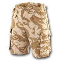 CAMO WORK SHORTS DESERT DPM SOLDIER 95 BRITISH ARMY TRS GRADE 1 GENUINE ISSUE
