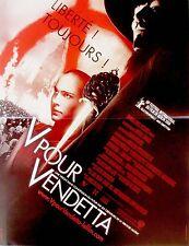 Affiche 40x60cm V POUR VENDETTA 2006 Natalie Portman, Hugo Weaving NEUVE